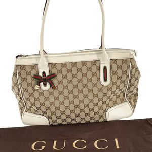 Authentic Gucci Jacquard tote bag